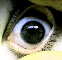 Green Tinged Eyeball